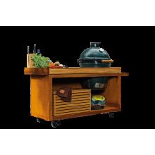 OFYR Kamado tafel corten 135 PRO teak wood BGE